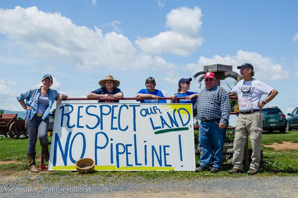 Atlantic Coast Pipeline, protest