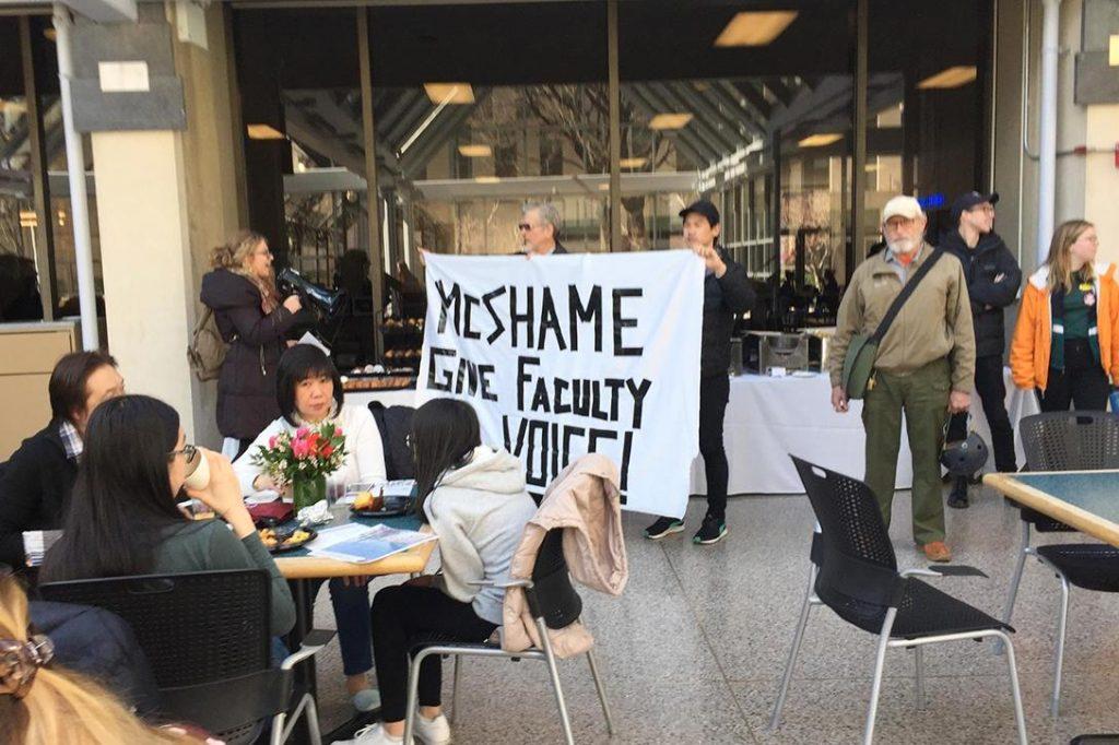 Alan Trevithick, Fordham, Protest