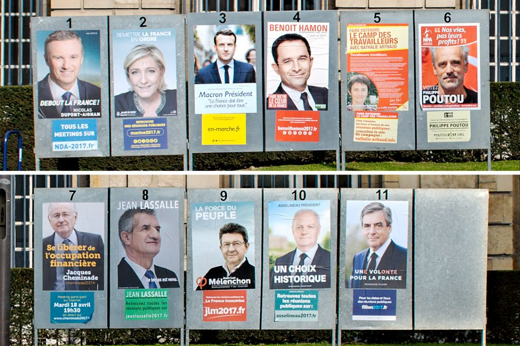 French election, candidates