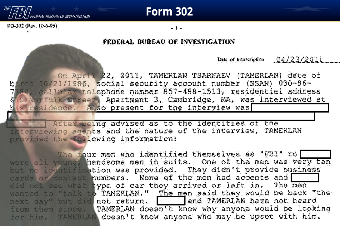 More evidence of spook interaction with boston marathon bomber fbi 302 tamerlan tsarnaev magicingreecefo Image collections
