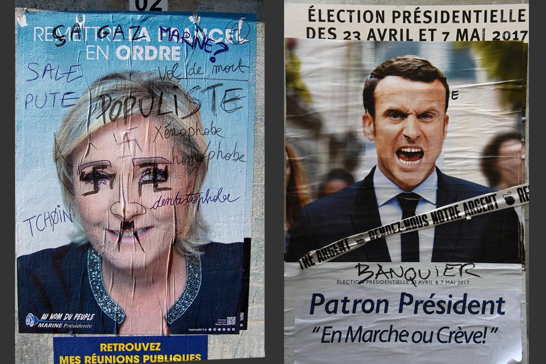 Marine Le Pen, Emmanuel Macron