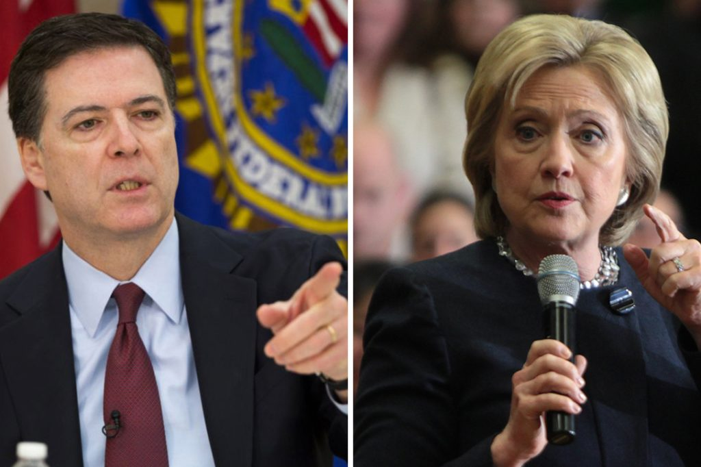 James Comey, Hillary Clinton