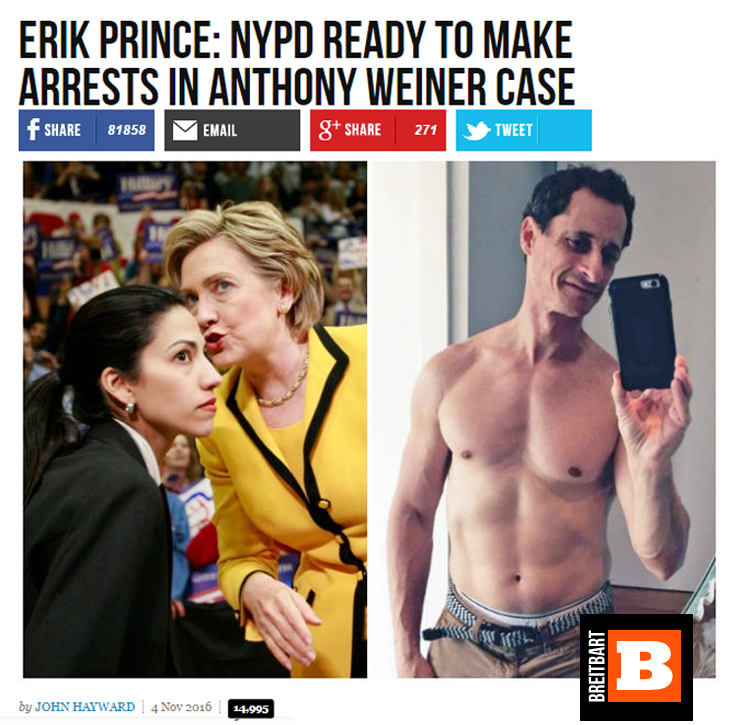 Breitbart, Anthony Weiner
