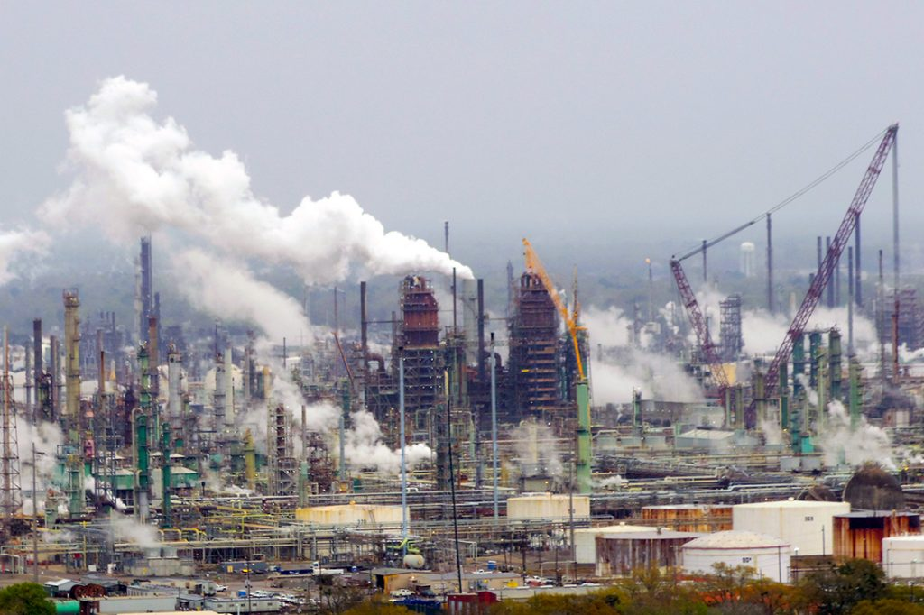 Exxon Mobil oil refinery, Baton Rouge, Louisiana.