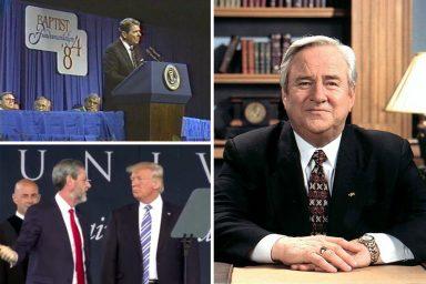 Ronald Reagan, Jerry Falwell, Jerry Falwell Jr, Donald Trump