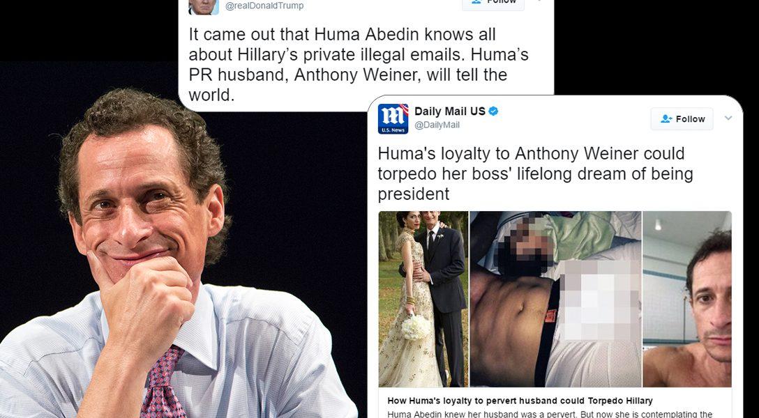 Anthony Weiner, Tweets, Donald Trump