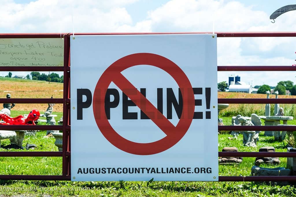pipeline protest sign