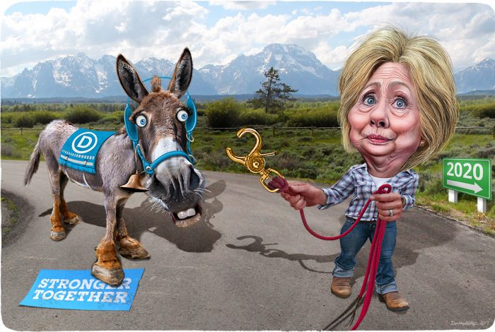 Hillary Clinton, donkey, Democrats