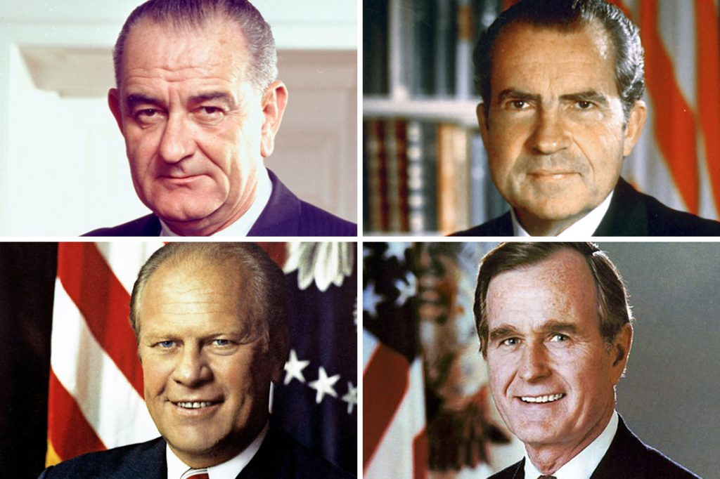 LBJ, Richard Nixon, Gerald Ford, George HW Bush