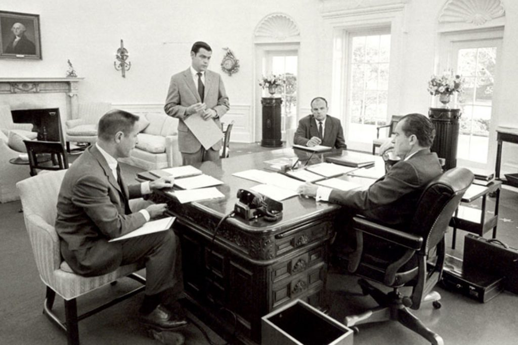 H R Haldeman, Richard Nixon, Dwight Chapin, John Ehrlichman