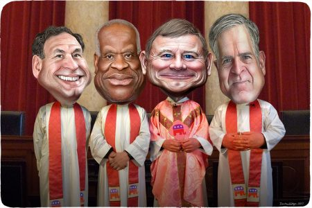 Separation of Church and State, Supreme Court, Sam Alito, Clarence Thomas, John Roberts, Neil Gorsuch
