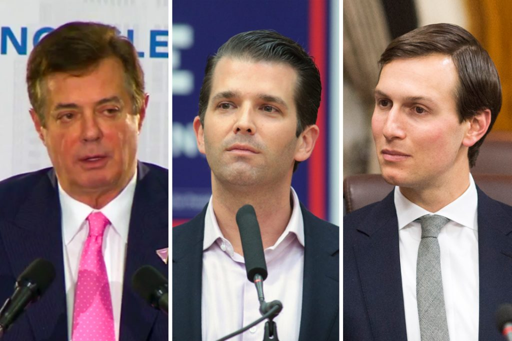Paul Manafort, Donald Trump Jr, Jared Kushner