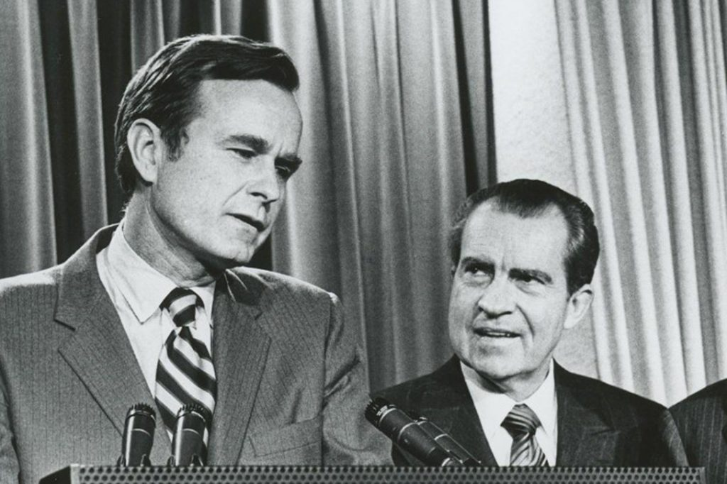 Richard Nixon with George H.W. Bush