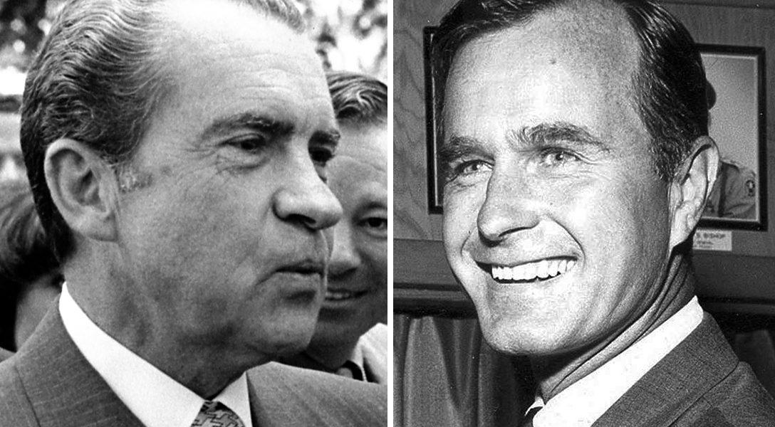 Richard Nixon, George H.W. Bush