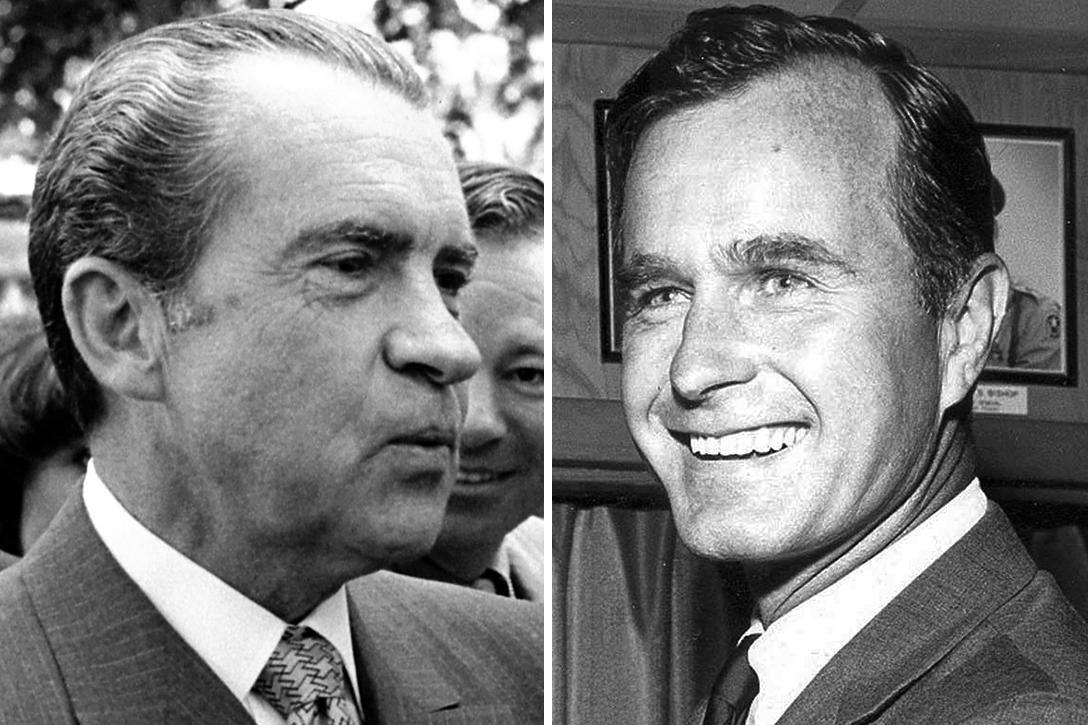 Richard Nixon, George H.W. Bush