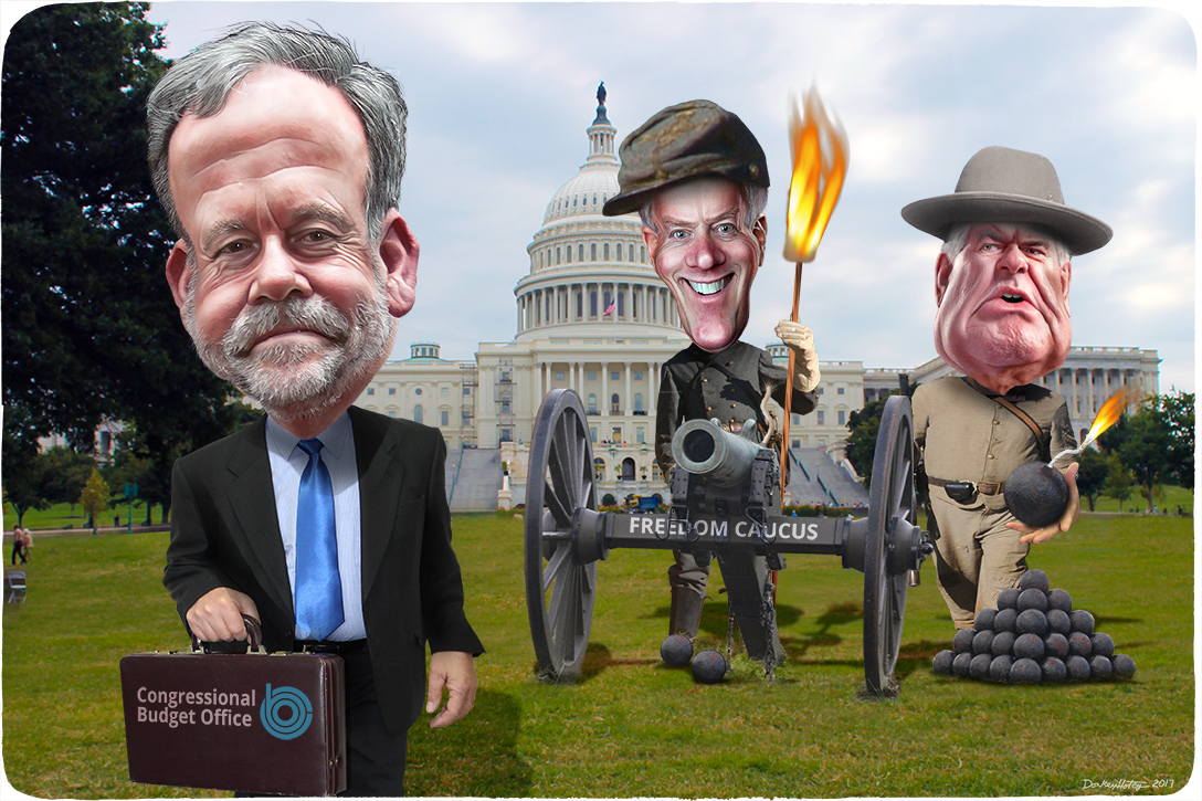 Keith Hall, CBO, Mark Meadows, Freedom Caucus, Newt Gingrich