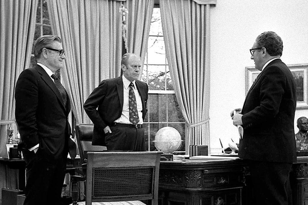 Nelson Rockefeller, President Gerald Ford, Henry Kissinger