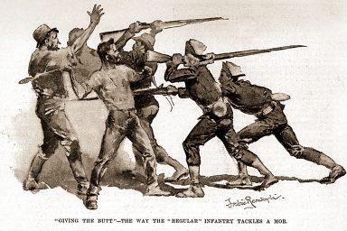Infantry, strikers, Pullman Strike
