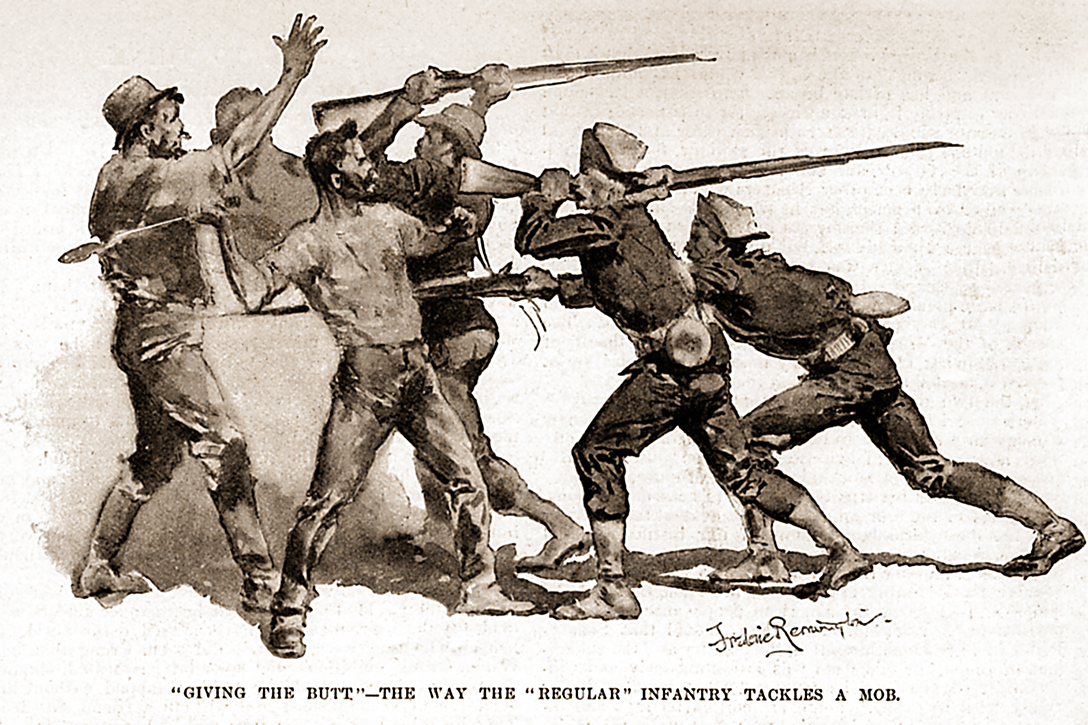 Infantry, strikers, Pullman Strike