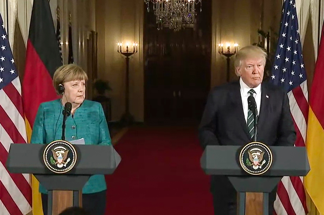 Angela Merkel, Donald Trump
