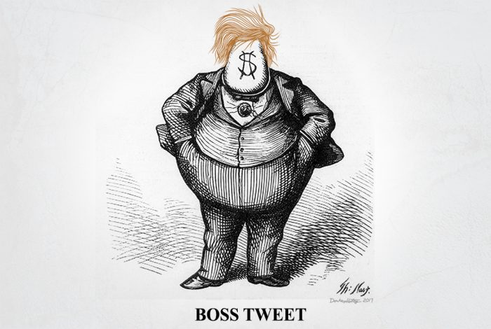 Donald Trump, Thomas Nast, Boss Tweet