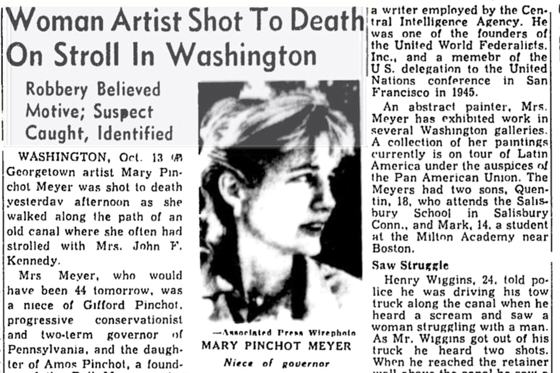 new story, Mary Pinchot Meyer, death