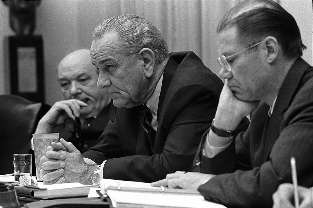 Dean Rusk, Lyndon Johnson, Robert McNamara