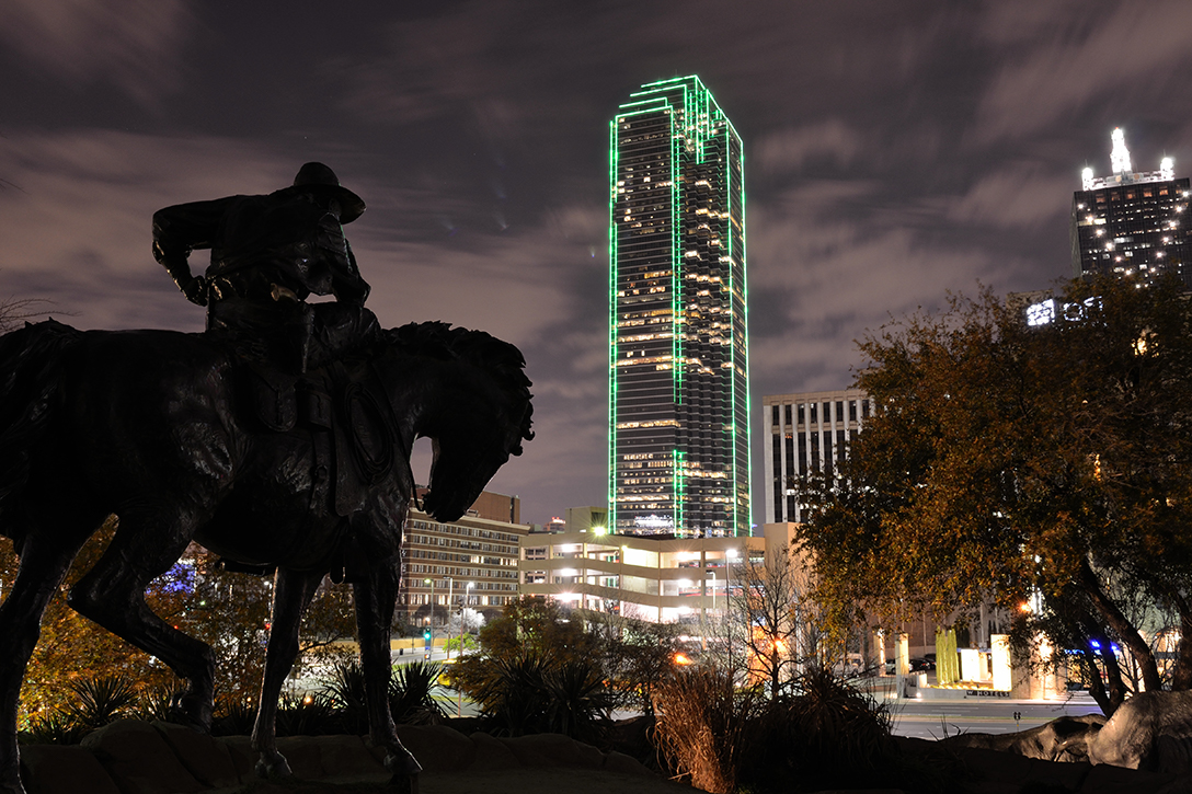 Pioneer Plaza, Dallas, cowboy