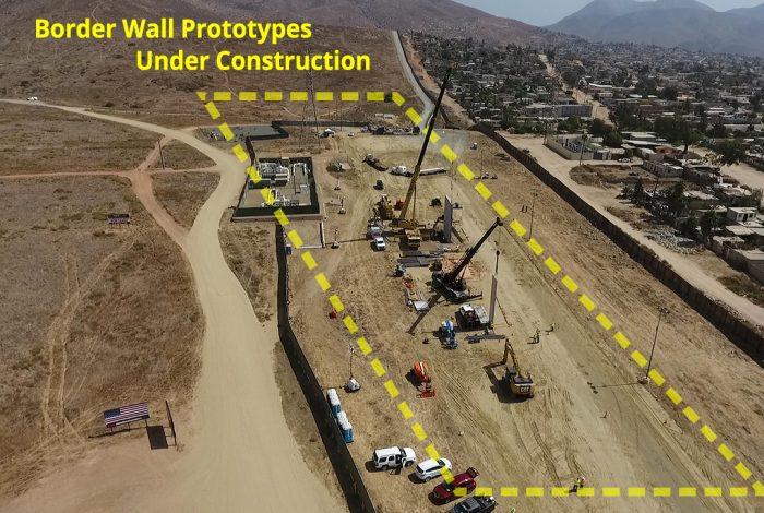 border wall, prototypes