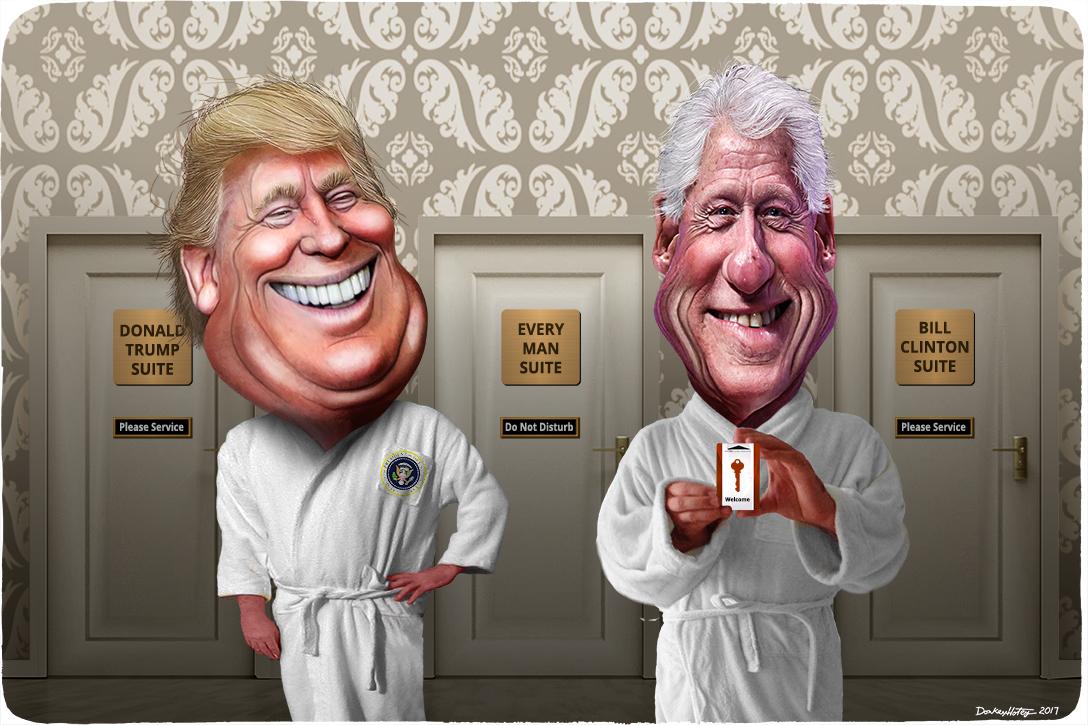 Donald Trump, Bill Clinton