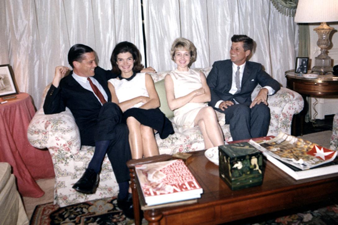 Ben Bradlee, Jacqueline Kennedy, Tony Bradlee, President John F. Kennedy