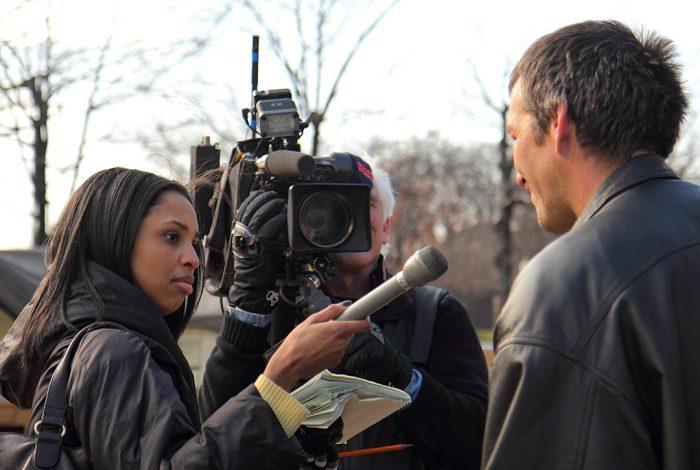news, reporter, press