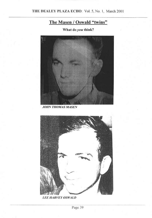 John Thomas Masen, Lee Harvey Oswald