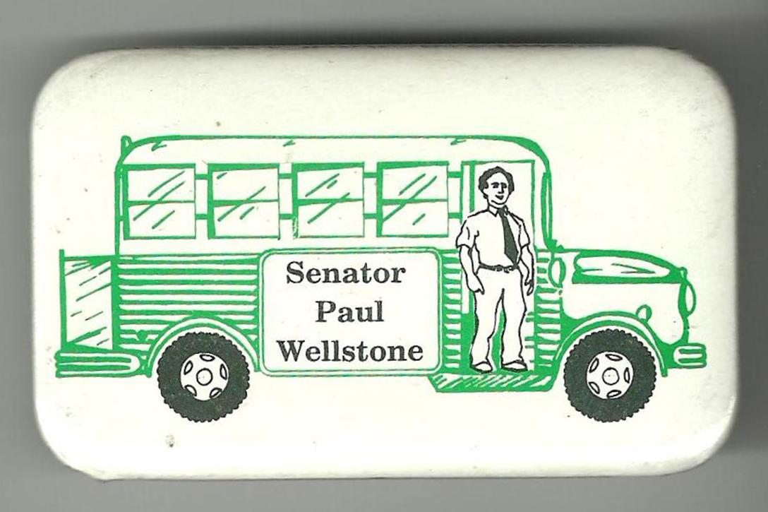 Paul Wellstone, campaign button