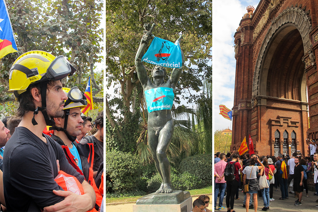 Barcelona, firefighters, catalonia, independence