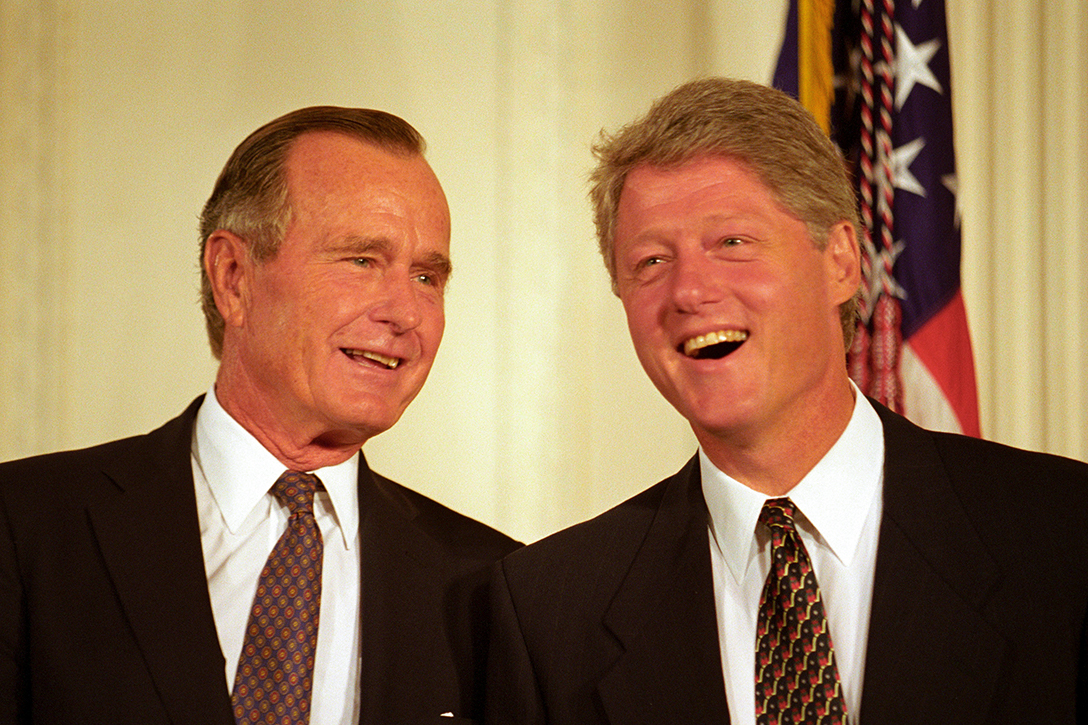 George H.W. Bush, Bill Clinton