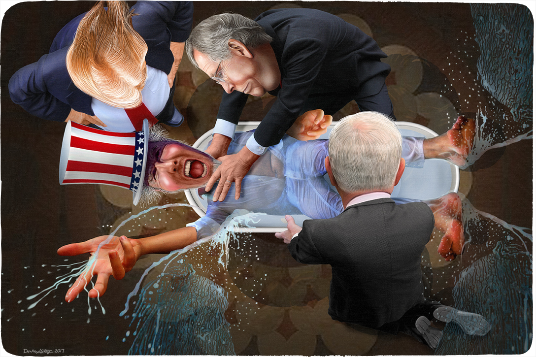 Drowning government in a bathtub