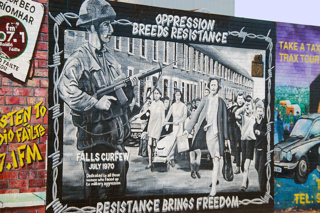 Republican mural, Belfast, Ireland