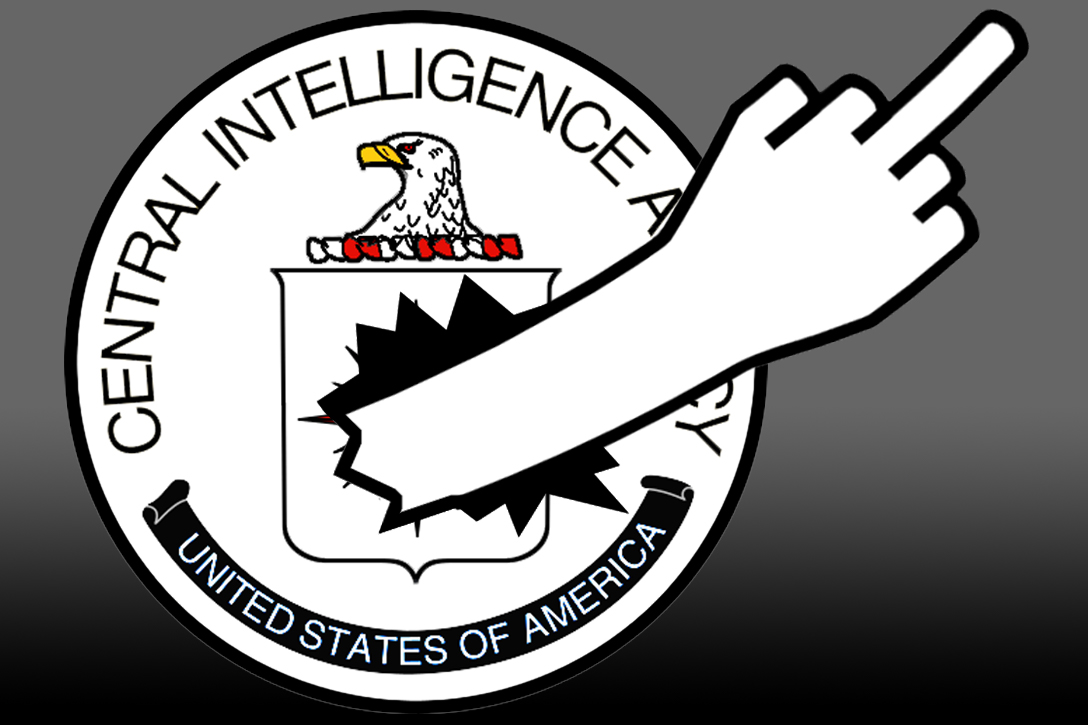 CIA, middle finger