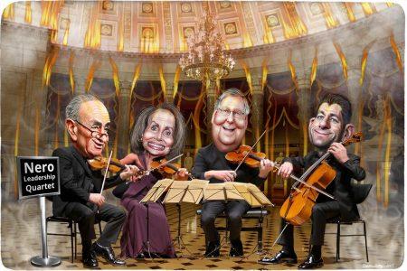 Congress, Nero, Chuck Schumer, Nancy Pelosi, Mitch McConnell, Paul Ryan