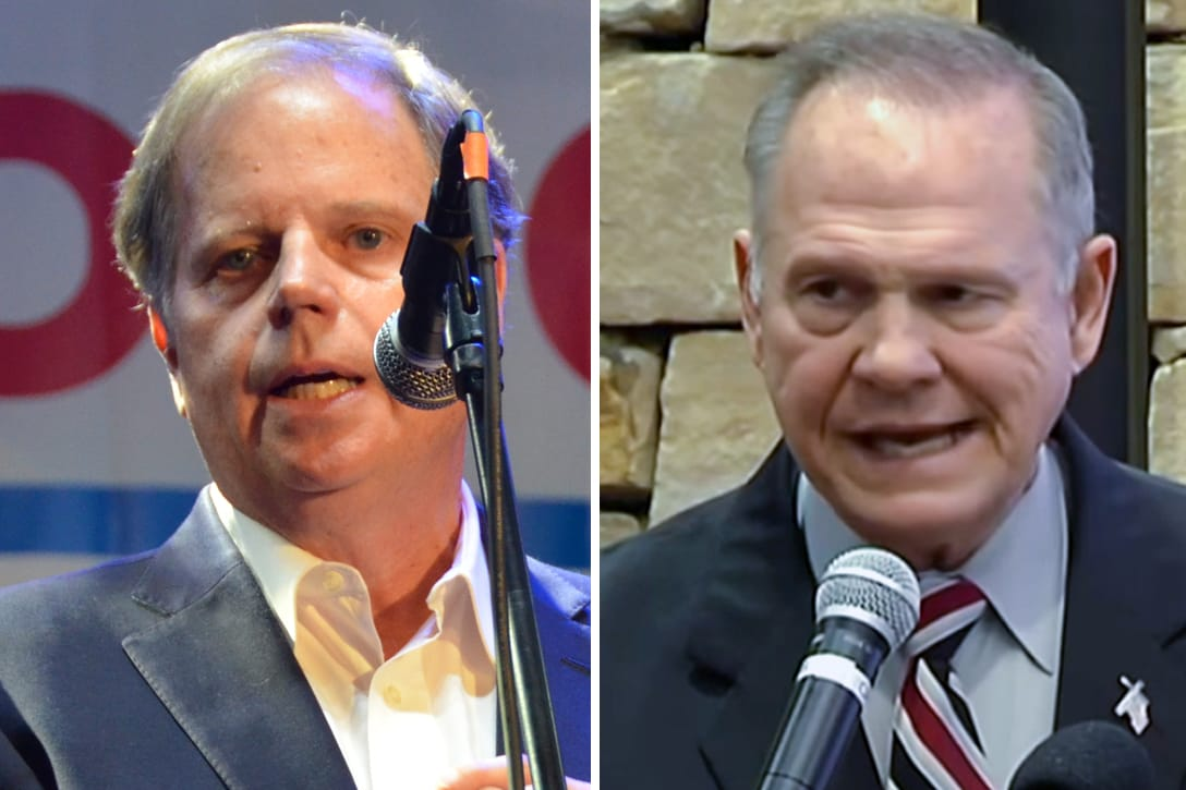 Doug Jones, Roy Moore