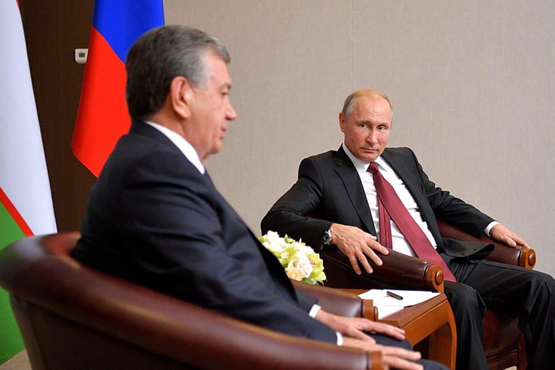 Vladimir Putin, Shavkat Mirziyoyev