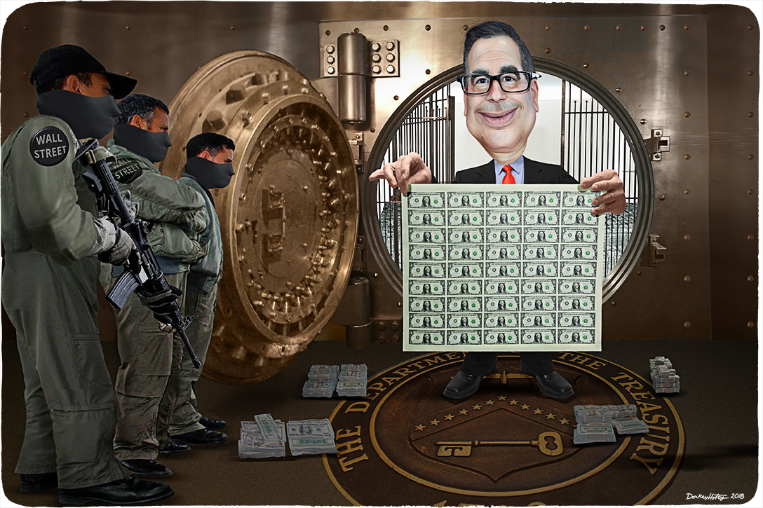 Steven Mnuchin , US Treasury, heist