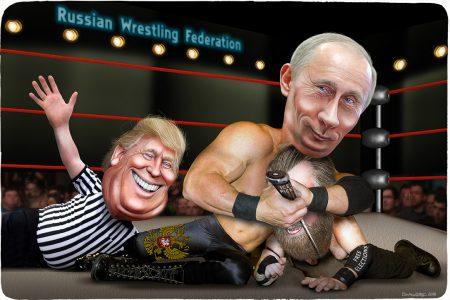 Donald Trump, Vladimir Putin, wrestling, elections