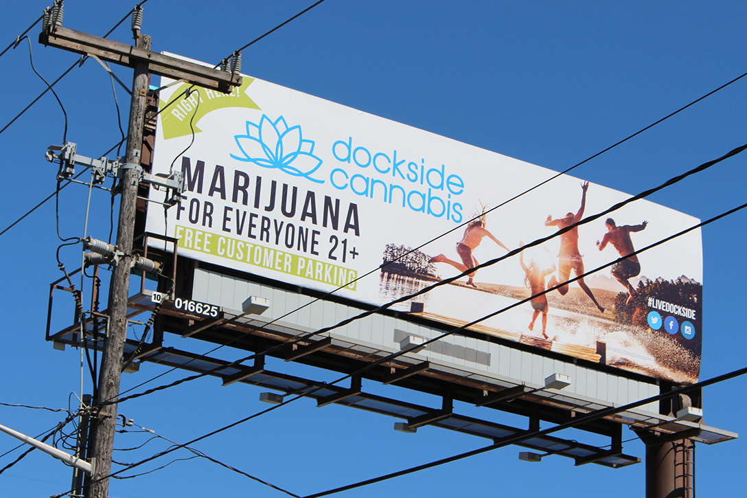 cannabis, billboard