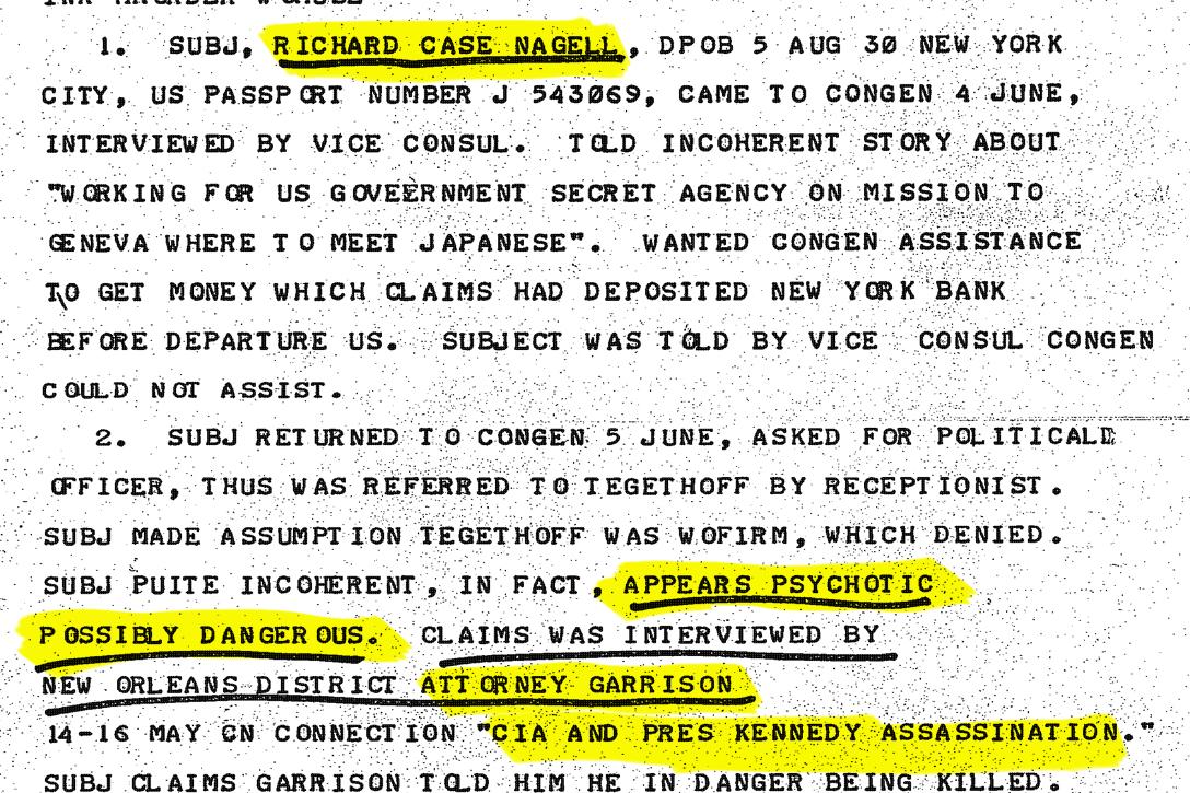 CIA cable
