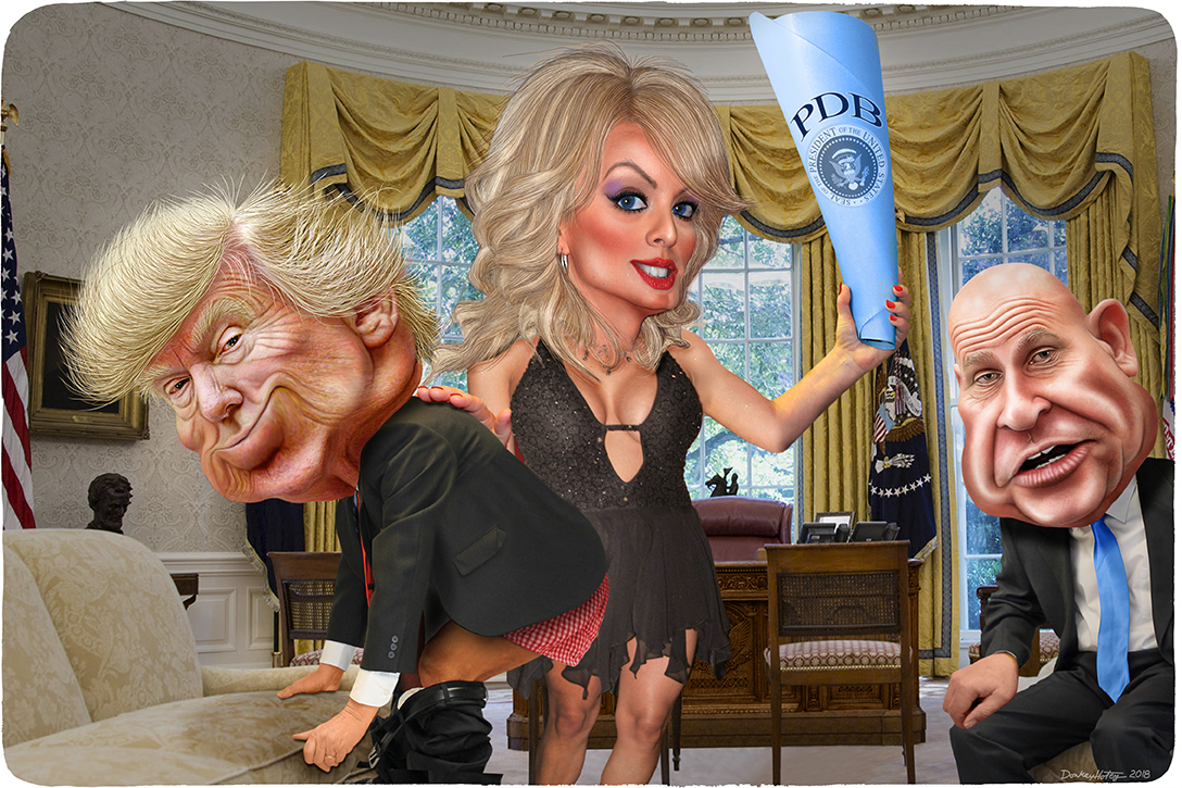 Donald Trump, Stormy Daniels, HR McMaster, Oval Office