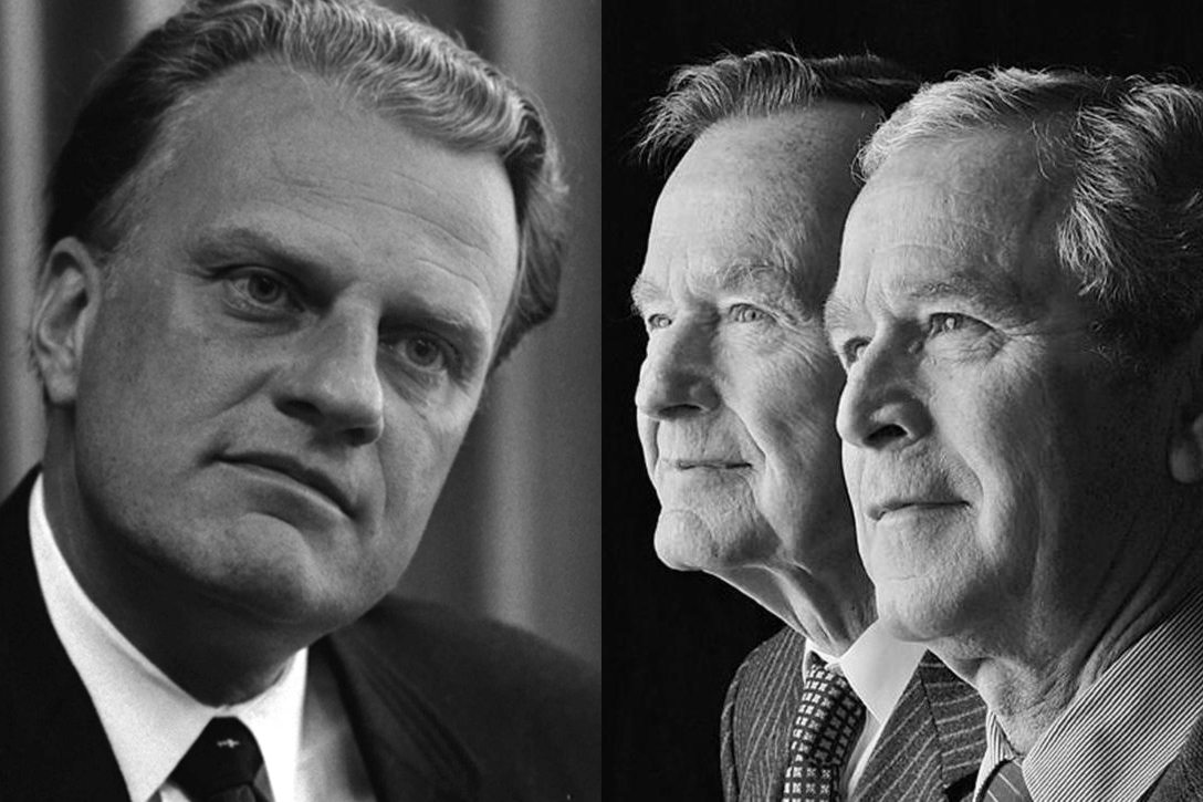 Billy Graham, George HW Bush, George W Bush