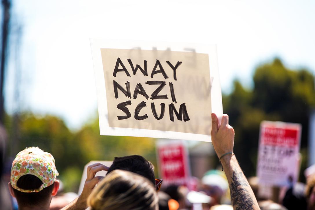 protest, Berkeley, NAZI