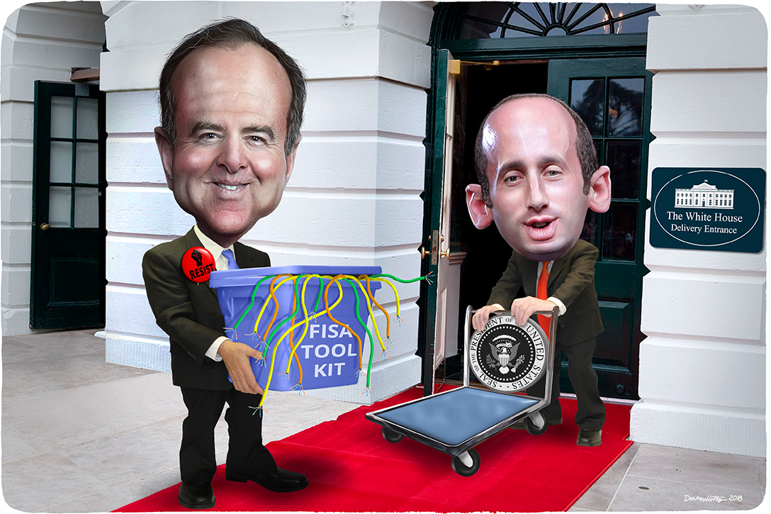 Adam Schiff, Stephen Miller, The White House